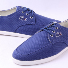 Lacoste Mens Aristide 13 Pumps Blue - Marimea 39.5 - Tenisi barbati Lacoste, Culoare: Din imagine