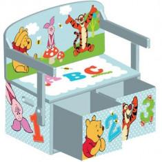 Mobilier 2 In 1 Pentru Depozitare Jucarii Disney Winnie The Pooh - Set mobila copii