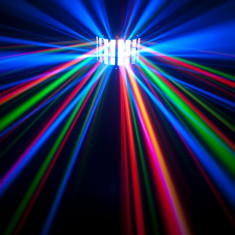 SCANNER LUMINI DISCO CU LEDURI SMD DERBY LIGHT ACTIVARE LA MUZICA, FULL COLOR. - Lumini club