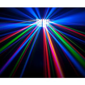 SCANNER LUMINI DISCO CU LEDURI SMD DERBY LIGHT ACTIVARE LA MUZICA,FULL COLOR.