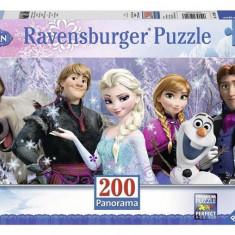 Puzzle Frozen Panorama Inghetata, 200 Piese - Jocuri arta si creatie Ravensburger