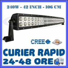 PROIECTOR LED CREE CURBAT, COMBO BEAM, 106 CM 240W, 12V 24V, OFFROAD SUV UTILAJE