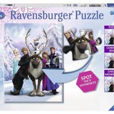 Puzzle Frozen Gaseste Diferenta, 100 Piese - Jocuri arta si creatie Ravensburger