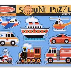 Puzzle Melissa & Doug Cu Sunete Vehicule Melissa And Doug