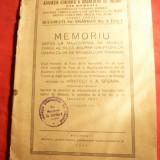 Asociatia Gen.a Daunatilor de Razboi - Memoriu 1931 catre Rege, 8 pag.+tabel - Istorie