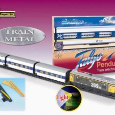 Trenulet Pequetren Electric Calatori Talgo Pendular 200, Cu Macaz, Seturi complete