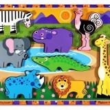 Puzzle Lemn In Relief Safari Melissa And Doug
