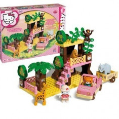 Set Constructie Unico Plus Hello Kitty Safari - Jocuri Seturi constructie