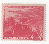 Centenarul artileriei romane, 1943, 4+4 lei, NEOBLITERAT