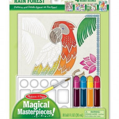 Set Pictura 4 Scene Padurea Tropicala Melissa And Doug - Jocuri arta si creatie Melissa & Doug