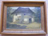 Casa taraneasca semnata Ange ( Nicolae Angelescu), Natura, Ulei, Realism