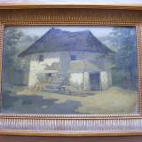 Casa taraneasca semnata Ange ( Nicolae Angelescu) - Pictor roman, Natura, Ulei, Realism
