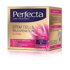 Perfecta Stem Cells Rejuvenation Crema Pentru Imbunatatirea Elasticitatii Pielii 50+ De Noapte, 50 Ml