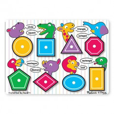 Puzzle Melissa & Doug Lemn Forme Geometrice Melissa And Doug