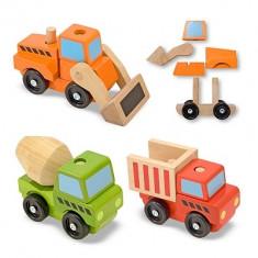 Vehicule Utilitare Pentru Constructii Din Lemn Melissa And Doug - Masinuta electrica copii Melissa & Doug