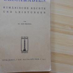 BASARABIA - DREPTURI SI SERVICII ROMANESTI - IN GERMANA - 11 ILUSTRATII + HARTA