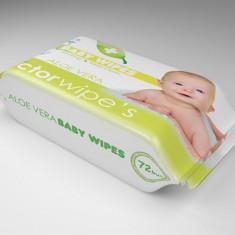 Servetele Umede Copii Doctor Wipes Aloe 72 Buc - Scutece unica folosinta copii