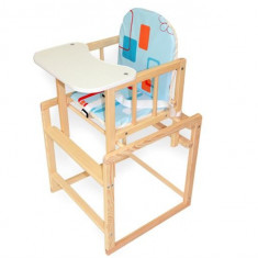 Scaun De Masa Multifunctional Din Lemn Klups Aga I Natur - Masuta/scaun copii