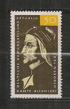 D.D.R.1965 700 ani nastere Dante Aligheri-poet  CD.713, Nestampilat