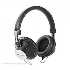 CASTI AUDIO MODEL SOUL NEGRU KRUGER&MATZ, Casti On Ear, Cu fir, Mufa 3, 5mm, Active Noise Cancelling