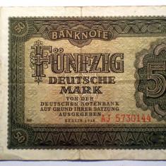178 GERMANIA RDG DDR 50 DEUTSCHE MARK 1948 SR. 144 - bancnota europa