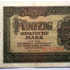 174 GERMANIA RDG DDR 50 DEUTSCHE MARK 1948 SR. 528 - bancnota europa