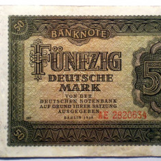 170 GERMANIA RDG DDR 50 DEUTSCHE MARK 1948 SR. 634 - bancnota europa