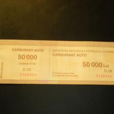 Tichet Carburant Auto 50.000 lei Petrom