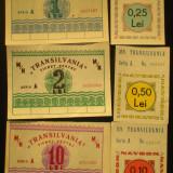 Lot bonuri Motonava Transilvania - Bancnota romaneasca