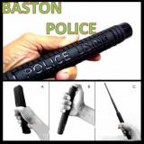 Baston telescopic POLICE USING. OTEL + Husa Inclusa. 3 elementi, 50 cm.