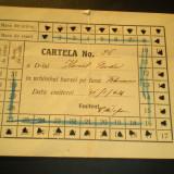 Cartela abonament masa luna februarie 1926