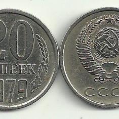 RUSIA URSS 20 COPEICI KOPEICI KOPEKS 1979 [2] livrare in cartonas, Europa, Cupru-Nichel