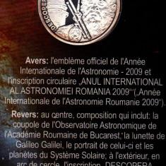 Medalie argint Galileo Galilei ANUL INTERNATIONAL AL ASTRONOMIEI 2009 - Medalii Romania