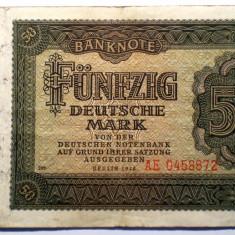 177 GERMANIA RDG DDR 50 DEUTSCHE MARK 1948 SR. 872 - bancnota europa