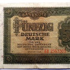 171 GERMANIA RDG DDR 50 DEUTSCHE MARK 1948 SR. 303 - bancnota europa