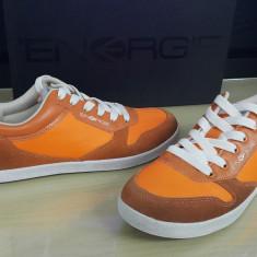 Adidasi originali ENERGIE - tenisi barbati - in cutie - piele - 40, 41, 43, 45, Culoare: Orange, Piele naturala