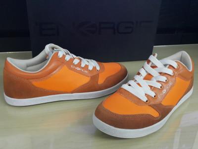 40,41,43,45_adidasi originali ENERGIE_in cutie_cu piele_orange foto