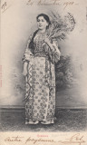 ROMANCA , COSTUM POPULAR , CIRCULATA DEC. 1901, Printata