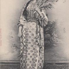 ROMANCA, COSTUM POPULAR, CIRCULATA DEC. 1901 - Carte Postala Muntenia pana la 1904, Printata