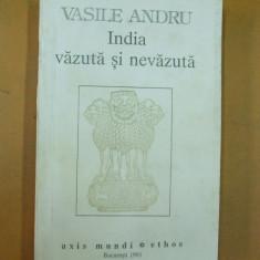 India vazuta si nevazuta Vasile Andru Bucuresti 1993 - Carti Hinduism
