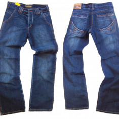 Blugi barbati - albastri -  FARM's jeans ARTIE W30,31,32,33  (Art.201-207), 30, Albastru, Largi