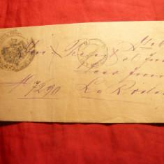 Plic Oficial -Prefectura Judet Olt ,expediata de la Dragasani la R.Valcea 1896