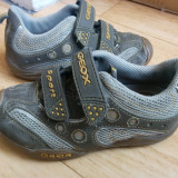 Adidasi din piele firma GEOX marimea 27, arata impecabil - Adidasi copii Geox, Culoare: Verde, Unisex, Piele naturala