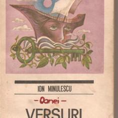 (C6245) ION MINULESCU - VERSURI