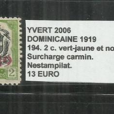 REPUBLICA DOMINICANA 1919 - 194. 2 C., Nestampilat