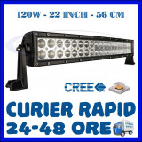 PROIECTOR LED CREE DREPT, COMBO BEAM, 56 CM 120W, 12V 24V, OFFROAD SUV UTILAJE, Universal, ZDM