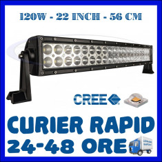 PROIECTOR LED CREE DREPT, COMBO BEAM, 56 CM 120W, 12V 24V, OFFROAD SUV UTILAJE