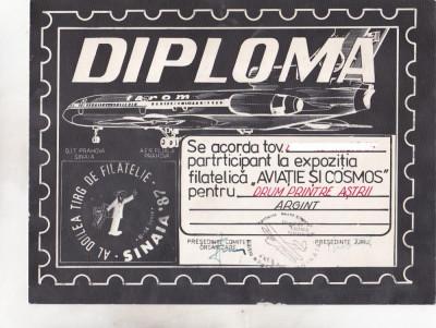 bnk fil Diploma Expo fil Aviatie si cosmos Sinaia 1987 foto