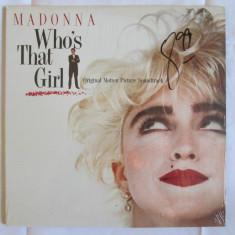 VINIL L.P. ORIGINAL(MADE IN CANADA) MADONNA ALBUMUL WHO'S THAT GIRL STARE F.BUNA - Muzica Pop electrecord