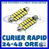 BEC AUTO LED LEDURI SOFIT FESTOON C5W C10W 41 mm 12 SMD 5730 CANBUS FARA EROARE, Universal, ZDM